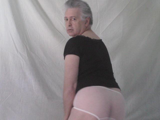 black-peasant-blouse-Nancy_King_Lingerie-pink-nylon-mesh-ladies-sheer-full-panty-modeled-back-view-by-Panty-Buns