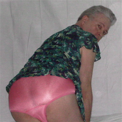 Mister Panty Buns male models pink satin knickers