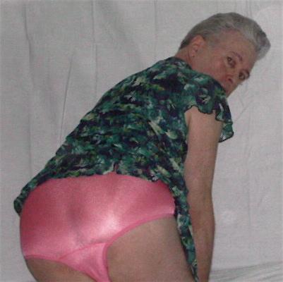 Mister Panty Buns male models pink satin knickers