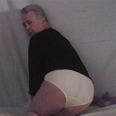 male modeling Teri Everyday Elegance yellow High-Cut Nylon Brief Panties