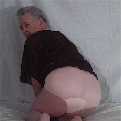 male models Dollhouse Bettie Retro 50s High Waist Satin Panties